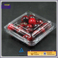 cherry tomato clear with logo printed plastic box strawberry blueBerry transparent fruit packaging box