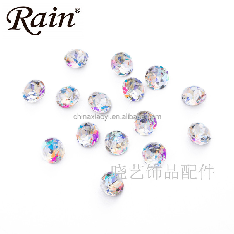 Rain AA Glass <strong>Crystal</strong> Mixed Shaped Spacer Sew On Beads for lady evening dress decoration Pendants