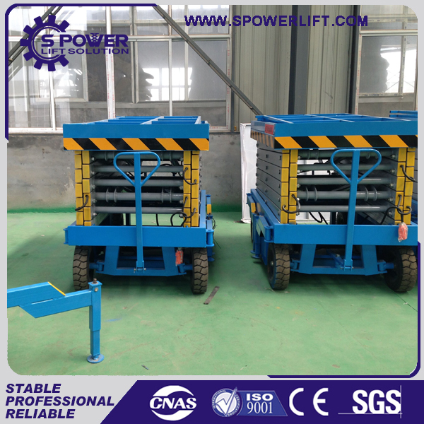 small device power hydraulic rotating scissor lift table