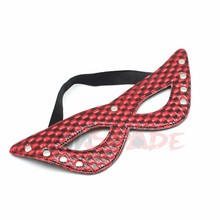 SM Bondage Red&Black PVC Eye Mask Blindfold Sex Product For Adult Party Games