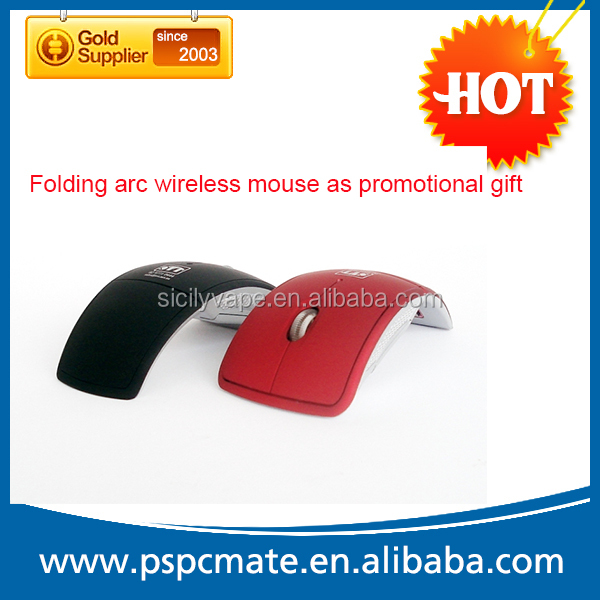 Promotional gift computer folding arc 2.4G wireless mouse with usb mini receiver
