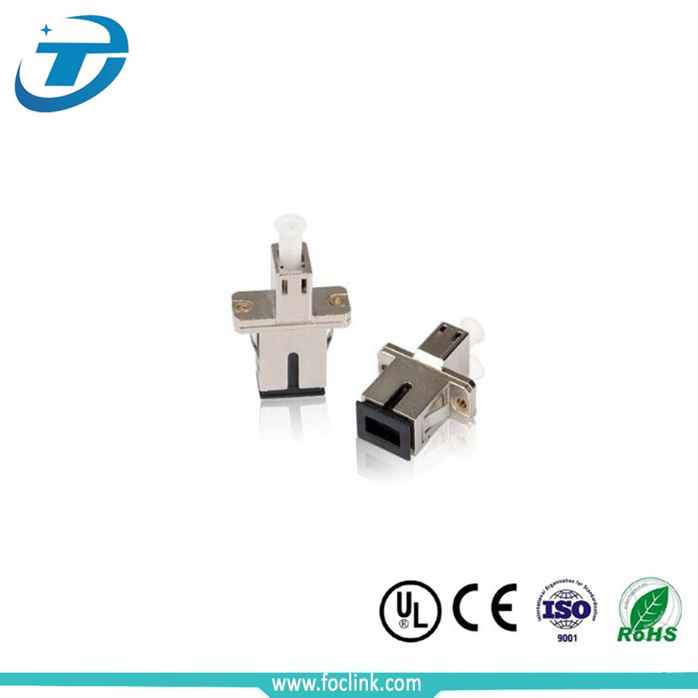 China manufacturer lc/sc multimode duplex fiber optic adapter