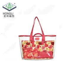 custom fashion plastic pvc vinyl shopping shoulder beach bag tote