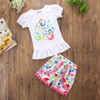2018 cute girls outfits under the sea kids summer clothing sets
