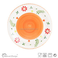 colorful plate/spring dinner set /ceramic garlic grater plate