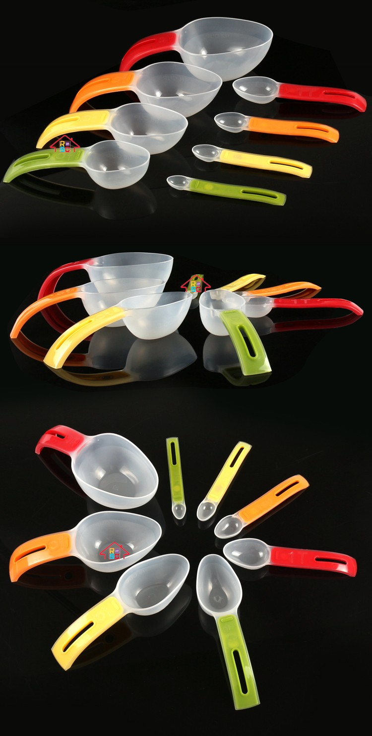 Reliable CompReliable Company Kitchen Magnetic Plastic Measuring Spoons Set of 8