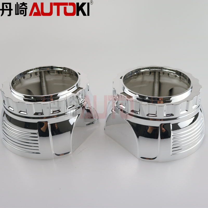 Autoki H1 MINI 2.5 inch hid bi xenon projector lens shrouds with angel eye cover