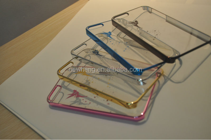 Transparent pc cover plate phone case for Iphone5