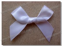 White 30mm wide Ribbon Bow