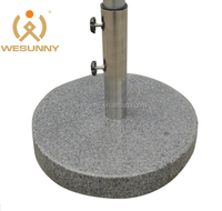 wholesale outdoor marble round garden parasol base
