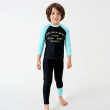 Wholesale 85-95cm height boy long sleeve swimwear kids rash guard
