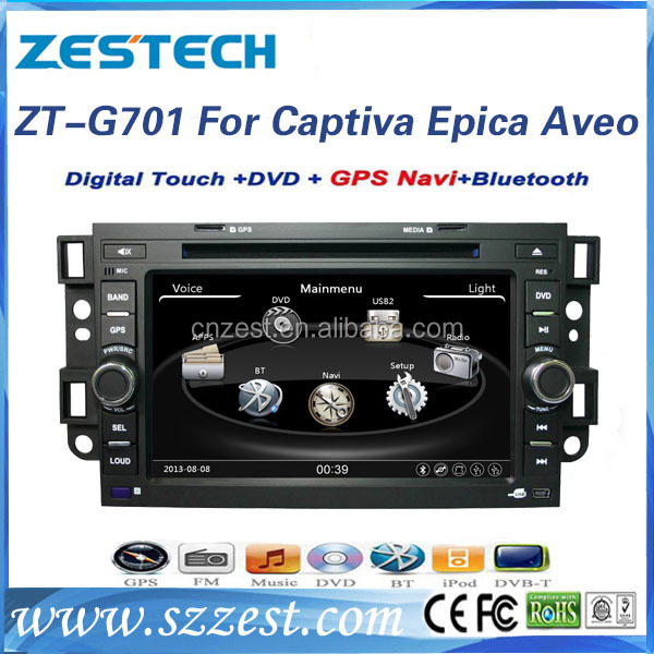 ZESTECH hot selling double din car accessories for Chevrolet captiva with GPS DVD FM/AM Support IPOD SWC USB/SD BT A/V IN/OUT