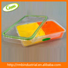 Clear divided food box with 2 inner trays plastic food container