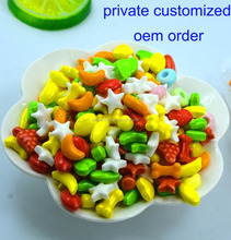 colorful fruity flavor bone star shape tablet candy with oem order
