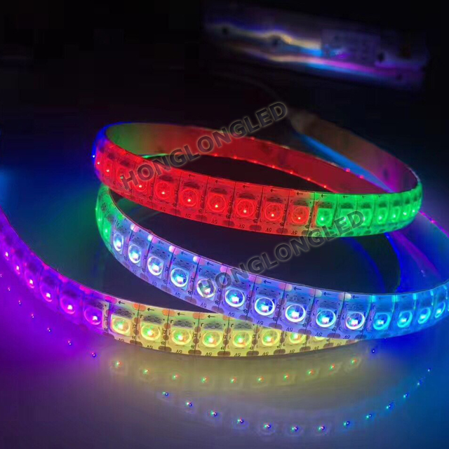 Wholesale WS2812 High Brightness 24 Key IR Remote/5M 300 LED SMD RGB Waterproof 10mm width led strip 5050