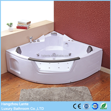 Hangzhou supplier whirlpool lighted bathtub with small sitting place