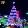 Outdoor Led Spiral ChristmasTree White Lighted With Top Star