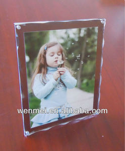 5x7 Clear Acrylic Desk Magnetic photo frames