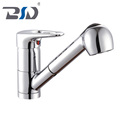 Bathroom Brass Sanitary Hot And Cold Water Type Wash Basin Pull Out Faucet