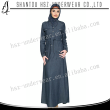Zakiyyah887 2016 Long Sleeve Dress With Jeans Hand Work Abaya For Women Baju Kurung Moden