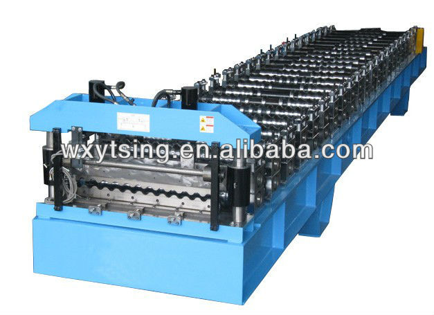 45# Forge Steel Corrugated Roof Roll Forming Machine with Product Run Out Table/Auto-Stack