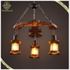 Holiday Lighting! Zhongshan Lights Retail Vintage 3 heads Wood Pendant Light, Arrow Hanging Lamp
