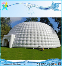 Hot sale Large giant white inflatable igloo dome tent for rental