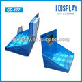 corrugated small transparent lcd display for samsung counter top display stand