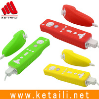 New Arrival Remote game joypad for wii with silicone case and hand strip