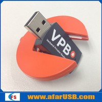 Round turning usb flash drive thumb drive