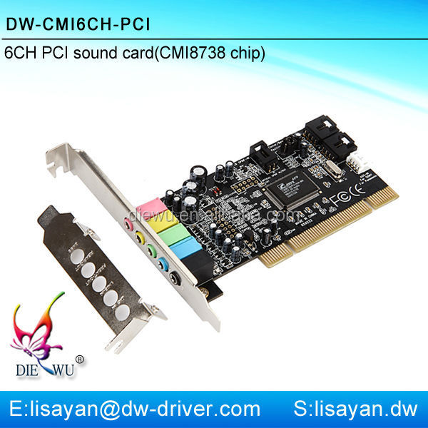 Creative 5.1 channel pci sound card with cmi 8738 chipset