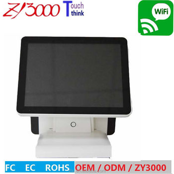 15 inch all in one capacitive Touch Dual Screen POS Terminal / Epos machine / pos system dual screen