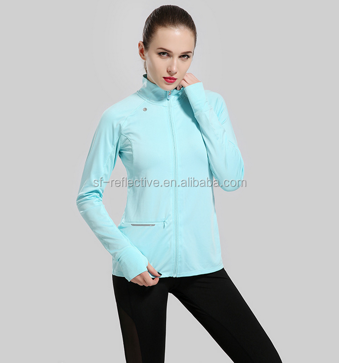 top fashion reflective blue safety t-shirts / luminous t-shirt for jogging running and training