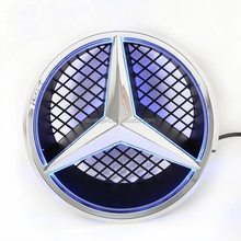 Car front grille LED LOGO for MERCEDES BENZ, Original BADGE light, Front EMBLEM LAMP, illuminated badge, 12V