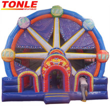 Factory OEM All The Wacky Candy midway princess kidzone inflatable bouncer jumper/ bounce house with slide wet dry combo