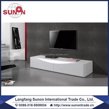 2016 new design modern MDF wooden lcd TV Unit in high gloosy-4