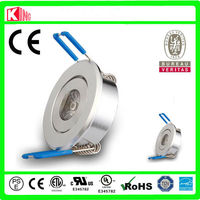 CE high quality 1 watt recessed led mini downlight