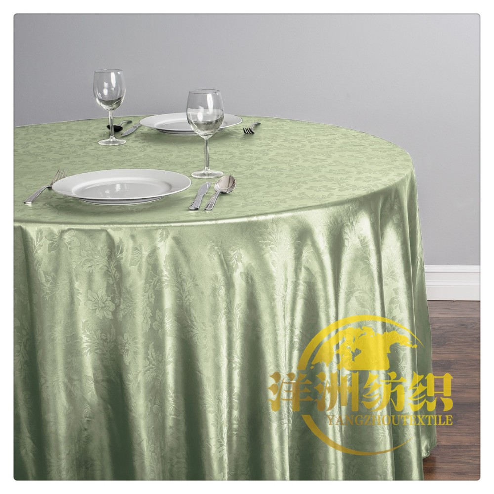 Wedding banquet decoration use embossed table cloth and chair cover