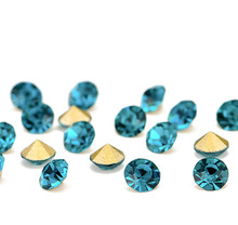 Colorful pointed back rhinestone crystal stones with size SS6 SS8 SS10