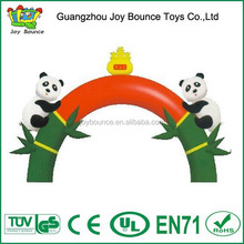 double panda entrance inflatable arch,inflatable tree arch