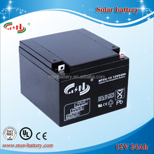 UPS battery Deep cycle solar battery 12v 24ah manufactured in China