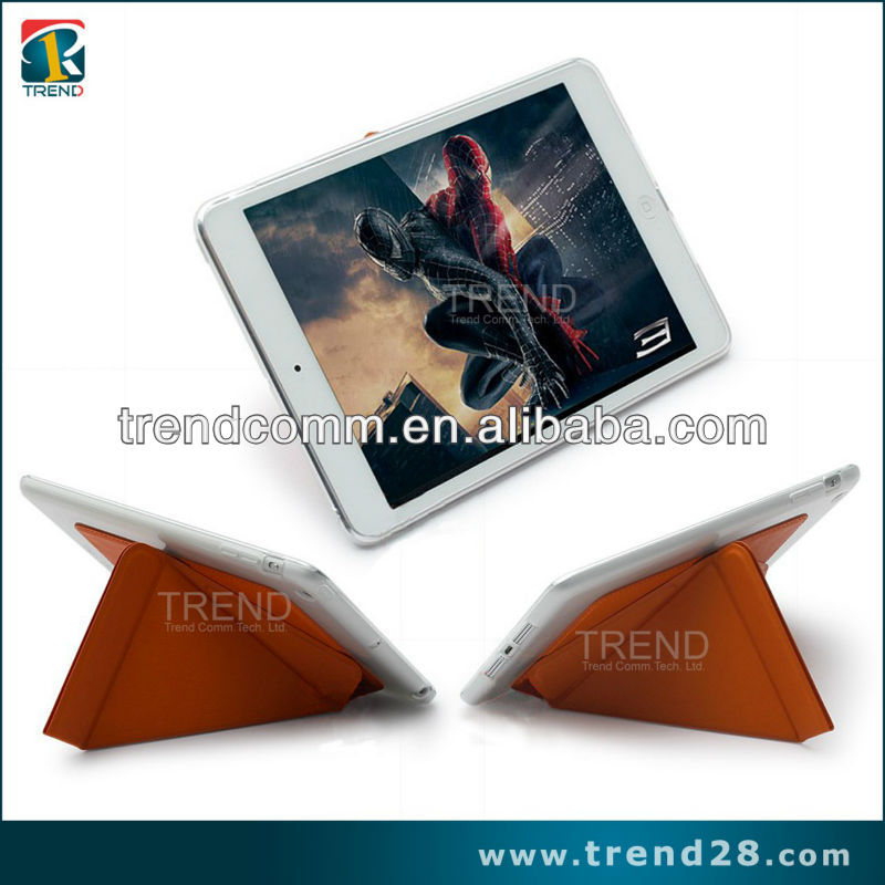 2014 new totu design dynamic folding stand leather case for ipad mini