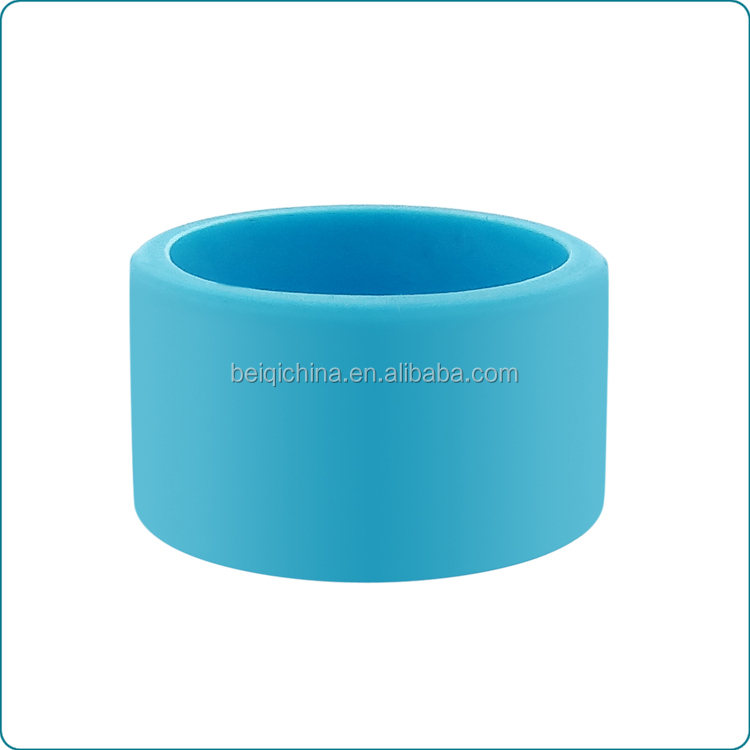 Custom silicone finger ring, blank printable silicone keyring