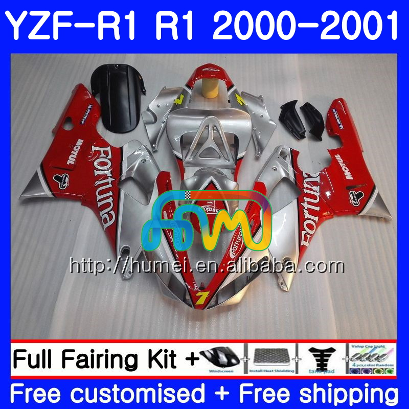 Fortuna red Bodywork For YAMAHA YZF 1000 YZF-<strong>R1</strong> 2000 2001 Body 98HM35 YZF1000 YZF R 1 YZFR1 <strong>00</strong> <strong>01</strong> YZF-1000 YZF <strong>R1</strong> <strong>00</strong> <strong>01</strong> Fairing
