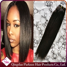2015 fashionable straight hair tangle free natural black relaxed peruvian straight hair