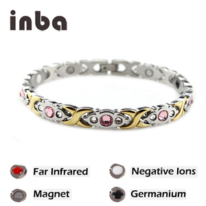 Hot Sales Stainless Steel Blood Pressure Ion Power Bio Magnetic Bracelet Wholesale with 4 in 1