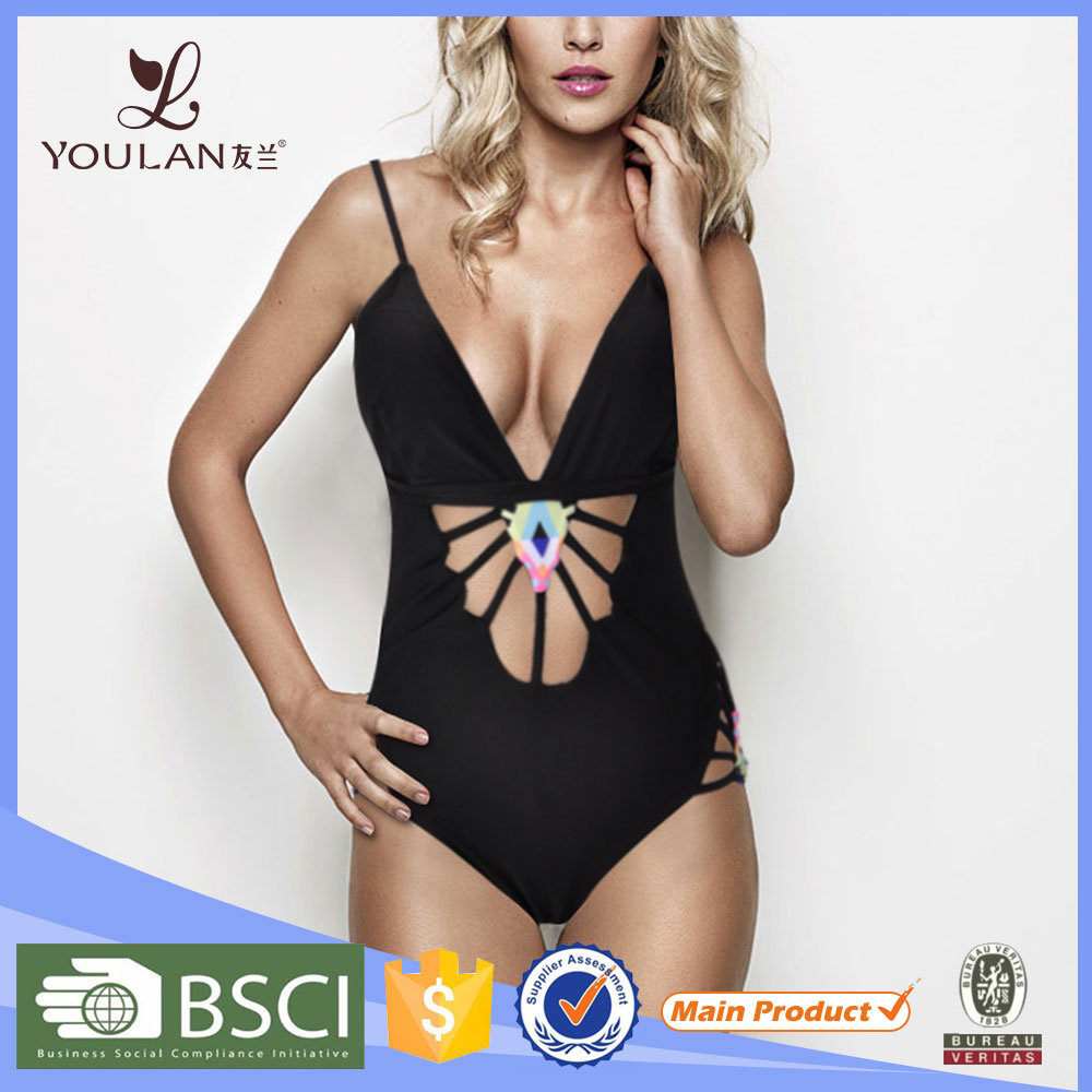 2016 OEM High Quality Women girl one piece new model sexy girl sex swimwear