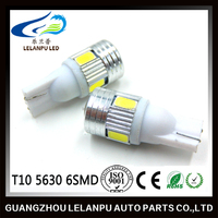 New Product High Quality Super Bright Auto Bulb LED Lighting T10 5630 6SMD With Lens Car Lamp led work light