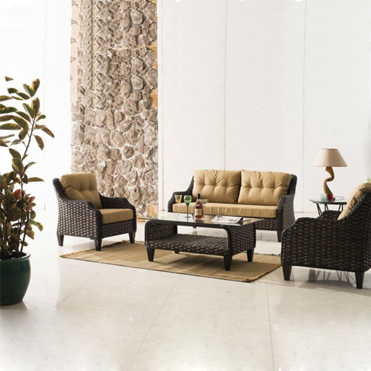 Hot Sale Waterproof Cushion Cheap Outdoor Wicker Furniture