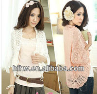 2013 new design Ms thin loose bat sleeve knit unlined upper garment